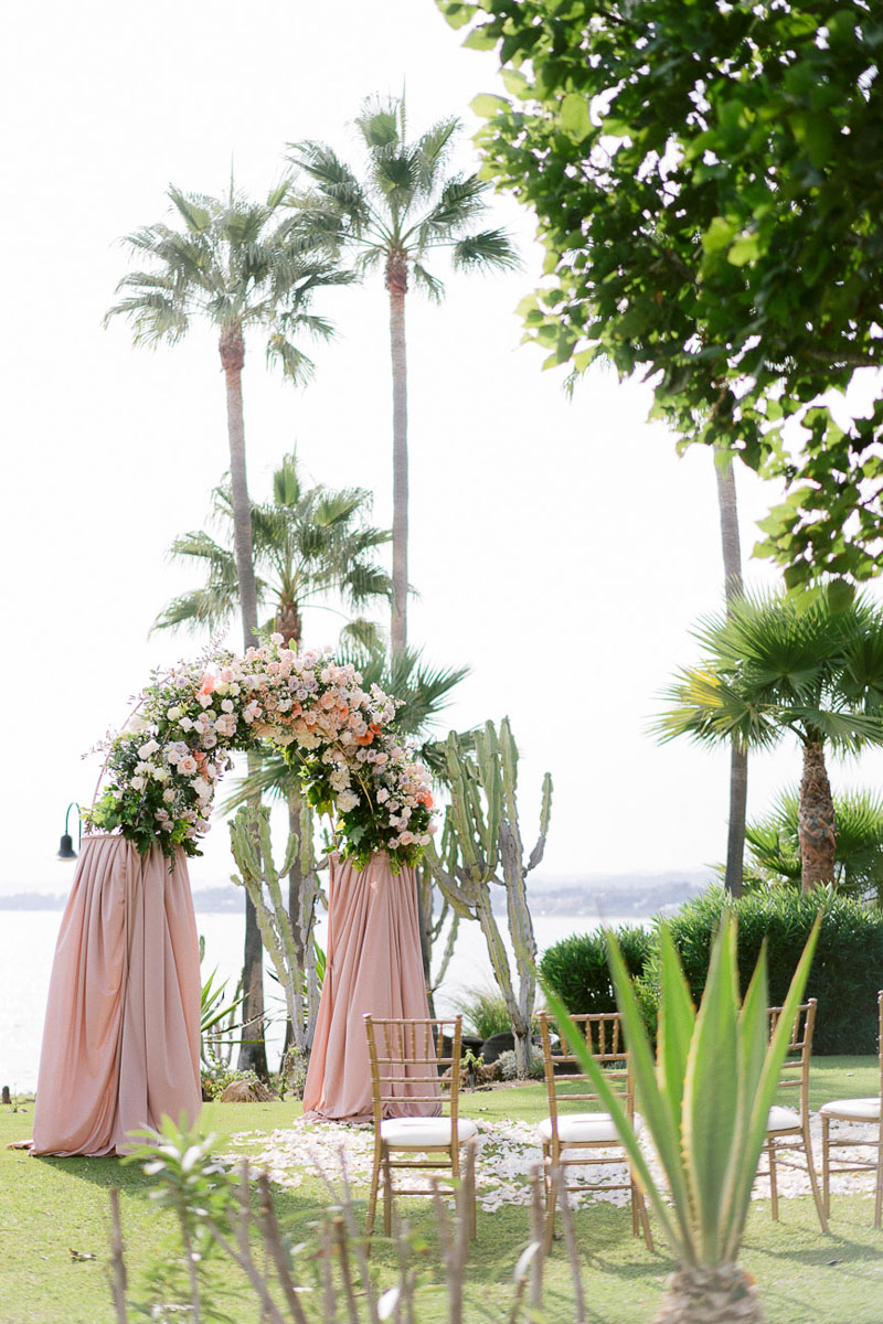 Wedding Arch with flowers Tikitano Beach Marbella